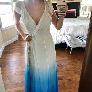 DVF Delancey Gradient Falls Blue Diamond Dress